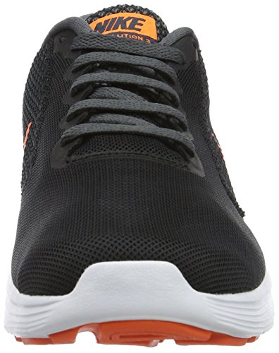 Nike Revolution 3, Scarpe da Corsa Uomo Nero (Black/Total Orange/Dark Grey/Turf Orange/White)