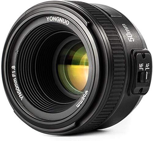 Yongnuo YN EF 50mm f/1.8 AF-Objektiv YN50 Aperture Autofokus für Nikon-Kameras als AF-S 50mm 1.8G Mit WINGONEER Diffusor