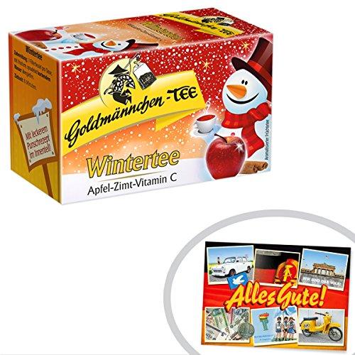 Wintertee Goldmännchen | INKL DDR Geschenkkarte | Ossi Produkte | Ideal für jedes DDR Geschenkset | DDR Traditionsprodukt und Ossi Kultprodukt | DDR Produkte