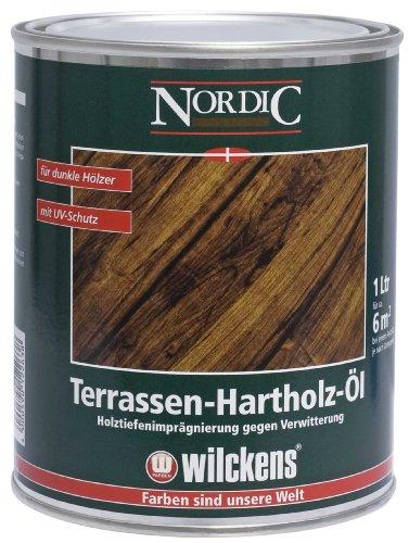 Wilckens Nordic Terrassen Hartholz Öl, bräunlich, 1 Liter 15110300060