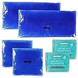 COM-FOUR® Sparpack Mehrfachkompresse 3 verschiedene Größen kalt & warm 2x10x8