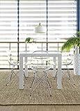 Canett Furniture Lissabon Esstisch Ausziehbar Glas Moden Tisch Weiss, Metall, Weiß, 90 x 90 x 76 cm Ausziehbarer