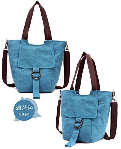 a0a7f0e2c4646 Foluton Damen Canvas Schultertasche Handtasche Vintage Leinwand  Umhängetasche Retro Shopper Tasche große Kapazität Messenager bag  Henkeltasche