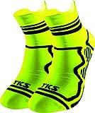 Calzini sportivi Pack 2 paio TKS Edetano. Calzini sportivi, running, ciclismo, triathlon e sport en generale. Disegnati per lunga distanza e per la gara. Colore giallo. Taglia M (40-42)
