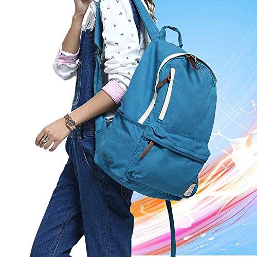 &ZHOU femminile borsa di tela borsa a tracolla grande capacità zaino Messenger Messenger bag di svago di modo 28 * 17 * 43 centimetri , lake blue lake blue