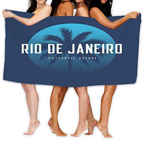 zexuandiy Premium Quality Large Beach Towel Pool Towel,Swim Towels for Bathroom,Gym,and Pool 31 In X51 In Rio de Janeiro Atlantic Avenue Apparel Design p Rio de Janeiro Atlantic Avenue Apparel Design