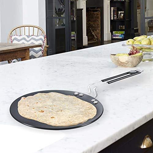 Prestige Hard Anodised Plus Cookware Induction Base Roti Tawa, 225mm, Black