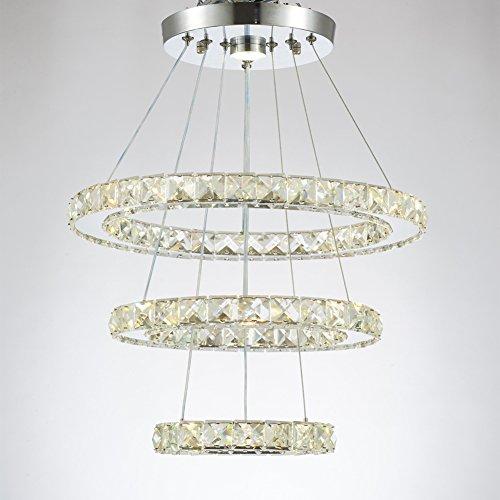 Crystal chandelier light al mejor precio de amazon en savemoney modern crystal chandeliers led chandelier pendant lights chandelier rings pendant light ring 2030 aloadofball Image collections