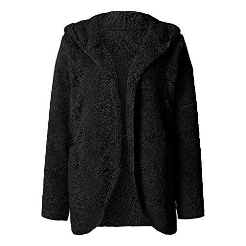 ZYUEER Sweatshirt Polaire Pull Femme Pas Cher A La Mode Manteau LâChe Fleece Blouse À Capuche Tops Hoodies Kpop Outerwear Pas Cher (Noir, L(EU=38))