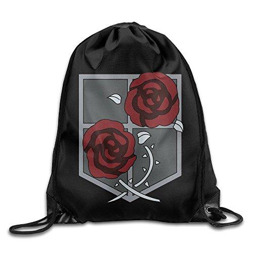 HLKPE Brigad Logo Attack On Titan Sport Backpack Drawstring Print Bag