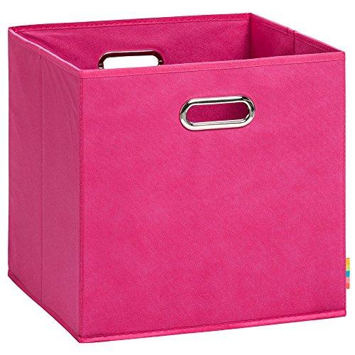 (H&S) Aufbewahrungsbox LEA - Faltbox - Korb - 33x33x33 cm - (Pink)