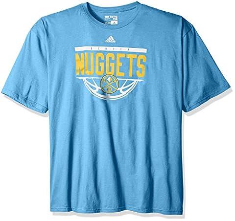 NBA Denver Nuggets Men's Balled Out Short Sleeve Tee, 4X, Light Blue