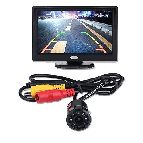 Backup Kamera und Monitor Kit für Auto, cipotziz 12,7cm Zoll High Definition HD 800(RGB) X480TFT LCD Monitor + Universal wetterfest HD 8LED IR Nachtsicht Auto Rückfahrkamera Backup Rückfahrkamera