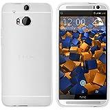 mumbi Schutzhülle HTC One M8 / M8s Hülle transparent weiss