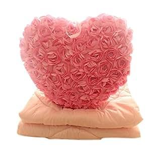 super couverture douce amortir joli coeur couverture couverture rose coton