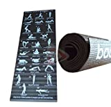 New Yoga Exercise Fitness Workout Pilates Mat With 28 Best Yoga Positions Non Slip Bottom By ZONNIX UK LTD