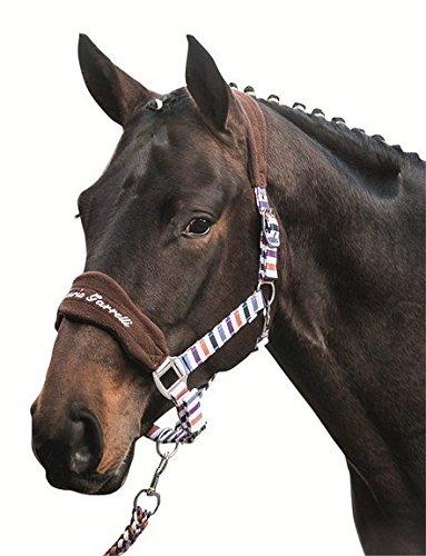Toskana-streifen (HKM SPORTS EQUIPMENT Halfter -Toskana- small Stripes, Farbe:braun/Streifen, Groesse:Pony)
