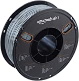AmazonBasics - PETG 3D-Drucker Filament, 1,75 mm, Multipaket mit 5 Farben, 1 kg Spule, Grau