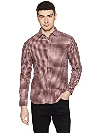 Symbol Amazon Brand Checkered Regular Fit Casual Shirt