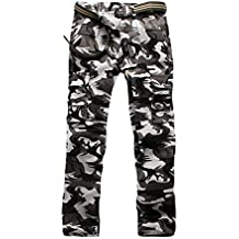 ZKOO Hommes Camouflage Pantalon Cargo Montagne Pantalon Militaire Combat  Longues Pantalons Multi Poches Pantalons de Travail 65f20fcc40a