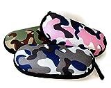 Filles Camouflage Combat Lunettes, étui à lunettes semi rigide avec fermeture éclair–Rose Parfait pour les enfants Lunettes cas