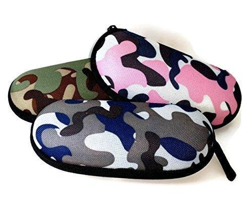 Mädchen camouflage Combat Spektakel, Brillenetui Semi Hard mit Reißverschluss–Pink perfekt Kinder Spezifikationen CAS