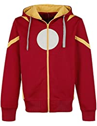 Iron Man Cosplay Hooded zip red L