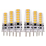Weichunya GY6,35 4 Watt 12LED 5730SMD Dekorative DC 12 V AC 12 V DC 24 300-400LM LED Bi-pin Lichter (6 STÜCKE) (Color : Warm White)
