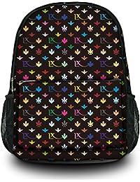 Luxburg® Design sac à dos multifonction cartable collège backpack, motif: LX noir