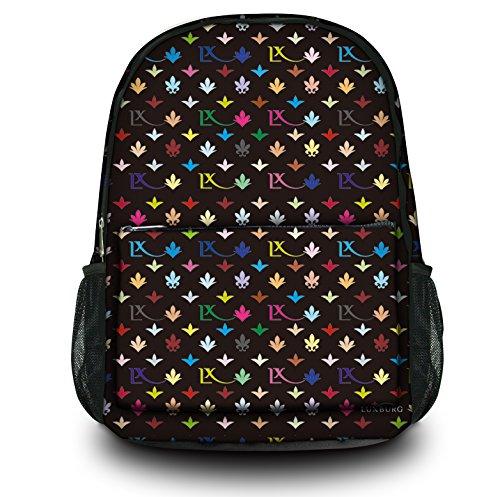 Luxburg® Design Rucksack Multifunktionsrucksack Ranzen Schulranzen Sporttasche Backpack LX Muster schwarz