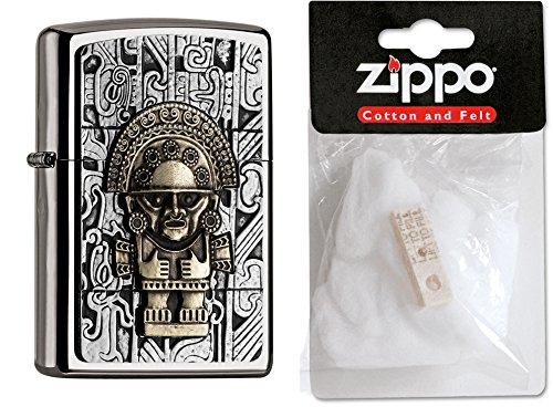 zippo-15187-mechero-de-diseno-de-la-abeja-maya-tumi-plus-de-repuesto-de-algodon