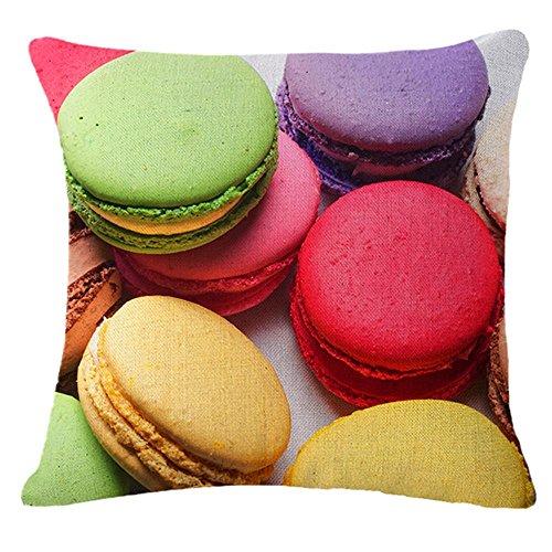 Lebensmittel-Hamburger-Serie Baumwolle Leinen werfen Case Kissen Kissenbezug Home Sofa dekorative ca. 18 X 18 Inch(45*45cm) , 1
