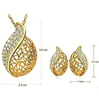 18k Gold Plated Acacia Leaves jewelry Set