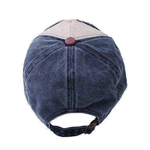 ODN Réglable Casquette de Baseball Unisexe Classic Snapback cap (bleu