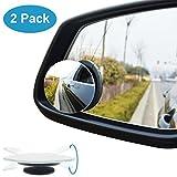 Specchietti per angolo morto, QueenDer specchio spot per auto, maggiore immagine e sicurezza del traffico. Vista posteriore grandangolare, design senza cornice, 2 confezioni