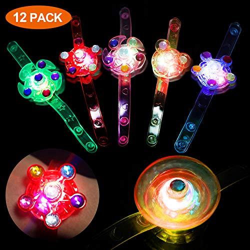 Hoiny 12 Pcs LED Leuchtspielzeug Partyartikel Set für Kinder,LED Blinkleucht Leuchten Armbänder,Kinder LED Flash Light Armband,für Weihnachten , Feiern Neujahrsparty, Geburtstag, Party, Hallowen.