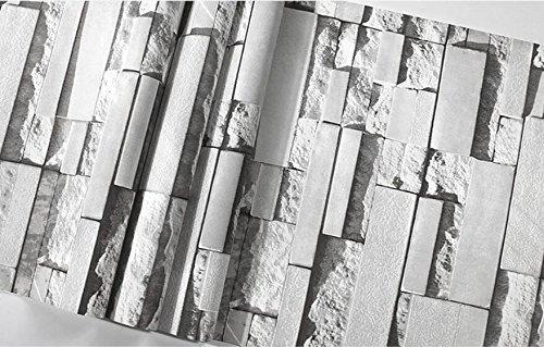 Haare shop Ziegel Tapeten Friseursalon 3D Stereo Hintergrund Mauer retro Damen Bekleidung shop Tapeten Dunkelgrau