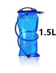 AONIJIE 1L/1.5L/2L/3L bolsa de agua plegable equitación correr al aire libre Montañismo Mochila bolsa de Potable, 1,5 L