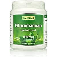 Glucomannan, 700 mg, hochdosiert, 120 Vegi-Kapseln – schnell und natürlich abnehmen. Idealer Diätbegleiter. OHNE künstliche Zusatzstoffe, ohne Gentechnik. Vegan.