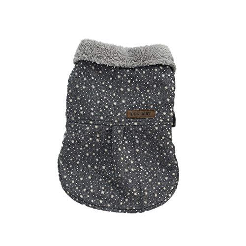 7af0eb7eefe69 Fashion Trendy Pet Clothes Soft Cotton Jacket Plush Collar Shirt Pet Dog  Coat Gray XL