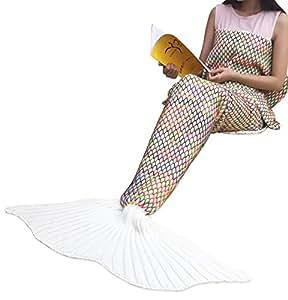 meerjungfrau decke geekhom f r alle jahreszeiten weiche meerjungfrau decke mit flosse f r. Black Bedroom Furniture Sets. Home Design Ideas
