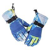 Aundiz Skifahren Handschuhe Gummiband Fitness Winddicht Wasserdicht Rutschfest Radfahren Handschuhe Blau Xl Handshuhe für Paar