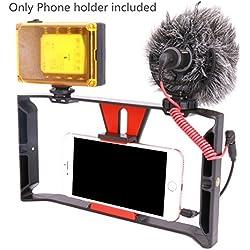Smartphone Video Rig, Ulanzi iPhone película grabación vlogging Rig caso, teléfono películas Soporte Estabilizador para funda para teléfono videomaker film-maker productor para iphone 7 plus Sumsang