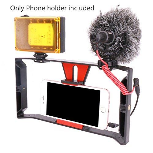 Smartphone Video Rig, Ulanzi iPhone Kameratechnik Aufnahme vlogging Rig Handy, Handy Filme Halterung Stabilisator für videomaker Filmen videofilmer für iPhone 7 Plus Sumsang (Handy-kamera-dolly)