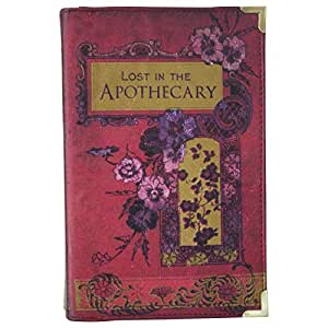 "Sac pour Femme Pochette Clutch Bandouliere Livre Vintage ""Lost in The Apothecary"""