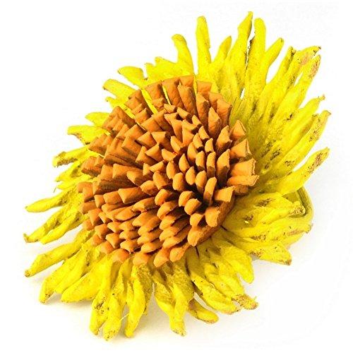 Girasol de anillo (amarillo) fabricada con piel por Joe Cool