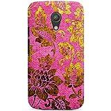 Motorola Moto G2 Hülle Premium Case Cover Retro Bunt Blumen