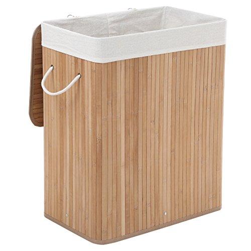 Wäschekorb aus Bambus, 100 Liter