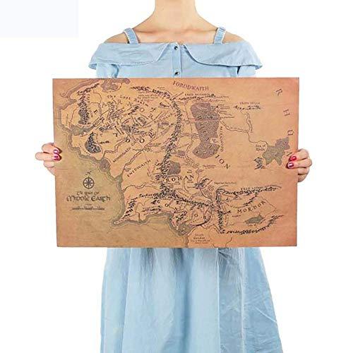 BonTime Mapa Tierra Media El Señor Anillos Cartel
