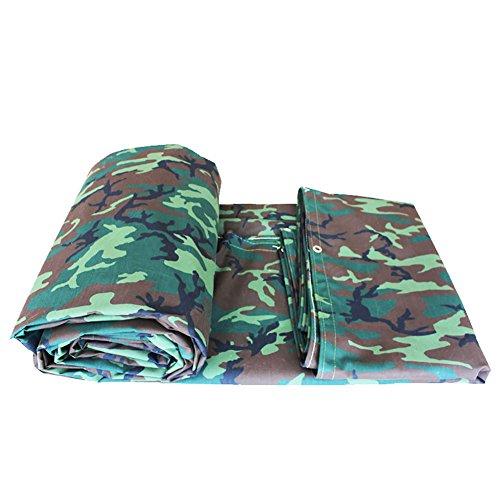 YY_9 Camouflage feuille de bâche épaisse imperméable à l'eau de plein air imperméable à l'eau de couverture de feuille de bâche de protection terrestre armée verte Camo, 550G / M² (taille : 4 * 8m)